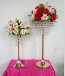 house plates Australia - 2019 wedding aisle T-Stage road lead props crystal wedding flower table centerpieces flower vase holder cake stand flower display stand