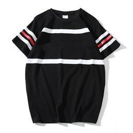 2018 Europe and the United States trend spring and summer models letter printing cotton T-shirt men and women casual couple round neck short