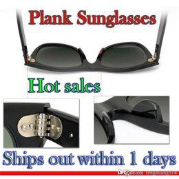 Sun Glasses Black Australia - High Quality Plank Sunglasses Black Sunglasses glass Metal hinge Sun glasses Men's Sun glasses Women's glasses unisex Sunglasses W