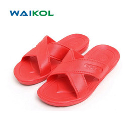 a6a561b18e056f Waikol Women Shoes Hot New Summer Flats Sandals and Slippers Non-slip  Bathroom Slippers Home Sandals