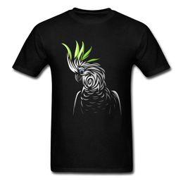 $enCountryForm.capitalKeyWord NZ - Art Design Tribal Parrot T Shirt Men Hip Hop Tees Black T Shirt Summer Fashion Clothing Hipster Tops Bird Print Tshirt