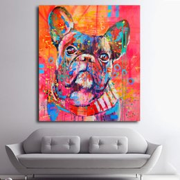 $enCountryForm.capitalKeyWord UK - 1 Panel Lovely Cartoon Animal Canvas Art Print Painting Cute watercolor Dog Poster Wall Picture For Home Decoration No Frame