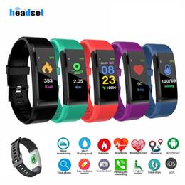 $enCountryForm.capitalKeyWord NZ - id 115 plus Smart Band Wristband Heart Rate Monitor Pedometer Sports Bracelet for Men Women Smart Band
