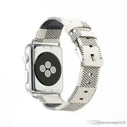Discount apple watch 38mm classic - Classic Luxury Brand Lattice Leather Watchbands for Apple Watch Band 42mm 38mm iwatch 1 2 3 bands Leather Strap Unisex