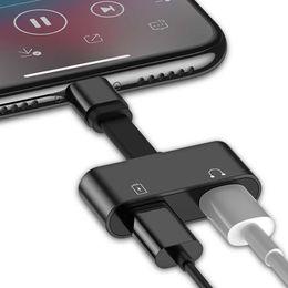 Chargeur Audio 2 en 1 Adaptateur Pour iPhone 7 8 Plus X Chargeur Câble Adaptateur Pour iPhone prise Jack à Écouteur AUX Câble