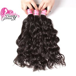 34 inches hair Australia - Beauty Forever Malaysian Virgin Natural Wave Hair Weave 8-26inch Unprocessed Hair Extensions 3 Bundles Natural Color Human Hair Wholesale