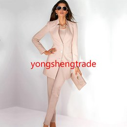 $enCountryForm.capitalKeyWord NZ - Beige Women Business Suit Custom Made Office Suit JACKET+PANTS 110