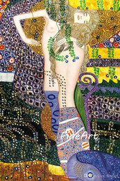 figure painting artists NZ - handmade oil painting reproduction of famous artist gustave klimt canvas art discount wall decoration quotes decorative painting canvas oil