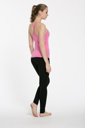 Chinese  No-see through Backless yogaTops with Bra Solid Colors Women Fashion Outdoor Yoga Tanks Sports Running Gym Clothes Standard Size:XXS-XL manufacturers