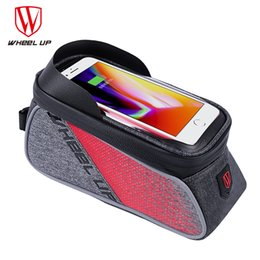 Discount up wheels - WHEEL UP Touch Screen Front Top Tube Bicycle Bags Rainproof MTB Road Cycling Bags 6.0 Inch bike Cell Phone Cases Hot Sel