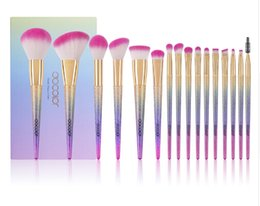 eyeshadow brush kits UK - 16pcs makeup brushes set professional blush foundation eyeshadow eyeliner lip make up brush beauty cosmetic tools