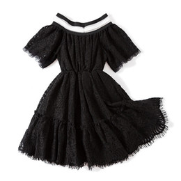 99f8839bd0 Vestido negro para la niña online-Vestidos de las muchachas INS Summer Baby  Clothes Moda