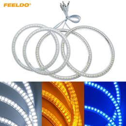 headlight corolla 2019 - FEELDO Auto SMD Angel Eyes Light Halo Ring For Toyota Corolla 01-04 Headlight 3-Color #2946 discount headlight corolla