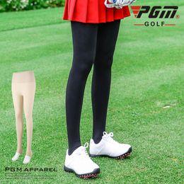 2626b9bf68913 PGM golf apparel lady trousers leggings thickening plus velvet warm  clothing women winter pants high waist stepping feet bouncy