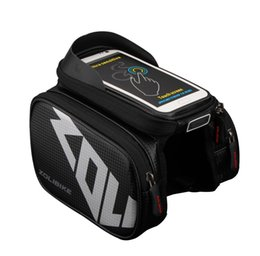 big screen cell phones 2019 - New Waterproof Touch Screen Bicycle Bag Frame Front Top Bike Bag Double Pouch Cycling big in Cell Phone Accessories chea