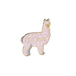 lover gift china UK - llama gift Lovely animal brooch Lama brooch Llama lover gift i hate drama brooch Alpaca jewelry Funny pin Hola amigos Animal lover gift