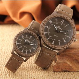 imitation wristwatches NZ - Fashion Casual New Vintage leisure imitation wood pair watches men women lovers couple dress quartz wristwatch
