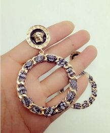 $enCountryForm.capitalKeyWord Australia - New fashion around the cloth Medusa lion head big earrings nightclub personality big circle fashion ear ring female