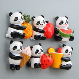 Cute Animal Magnets Canada - Cartoon Cute Bear Panda Fridge Magnet Kid Early Education Animal Magnetic Stickers For Kids Fridge Resin Figure Sticker Suppliers