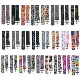 Опт Красочные ремешок мода спорт силиконовый ремешок для часов браслет ремешок группа браслет для Fitbit заряд 2 Узор ремешок 2018