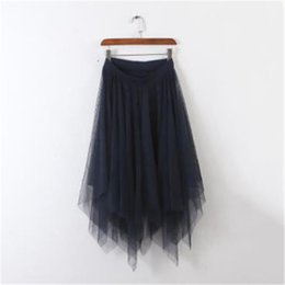 a6f51658a0 2018 Tulle Skirts Womens Fashion Elastic High Waist mesh Tutu Skirt pleated long  skirts Midi Skirt saias faldas jupe femme 2708