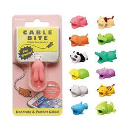 Mignon Animal Bite USB Chargeur Lightning Protection Des Données Couverture Mini Fil De Protection Câble Cordon Téléphone Accessoires Cadeaux Créatifs 31 Modèles en Solde