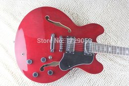 Guitars Electric 335 Red NZ - free shipping 2015 China guitar factory custom New Arrival red 335 JAZZ Semi Hollow electric guitar 1221