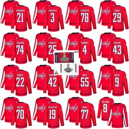 Discount capital jerseys - 2018 Stanley Cup Final Champion Washington  Capitals 77 T.J. Oshie Nicklas Backstrom e8ddd4456
