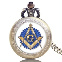 pocket pc new Australia - 1 Pcs Relogio Masculino New Arrive Masonic Free-Mason Brithday Gift Clock Men's Fob Chain Quartz Pocket Watch