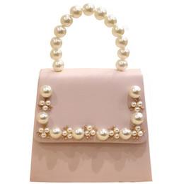 ed5be2e6b8 NUOVA borsa di perline con perline donne borsa di totalizzatore bianca rosa  elegante perline catena di borse da sposa borsa da sposa frizione frizione  ...