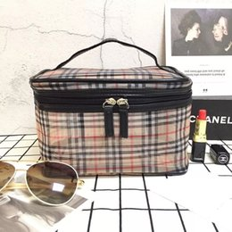 Makeup storage pouch online shopping - letter and grid makeup bags cosmetic storage bag Travel fashion pouch custom bags small cosmetic bag