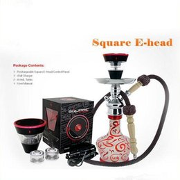 Mini Shisha E Hose Australia - Newest design square e head e hose vape dry ecig mini e shisha square cartridge refillable hookah disposable hookah DHL FREE