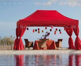 FRETE GRÁTIS ! Lindo e romântico gazebo de festa de casamento ao ar livre de alumínio de 10 x 15 pés (3 mx 4.5 m), pop up tenda, evento marquee
