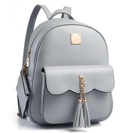 8e60ac63dc 2pcs Set Tassel Women Backpack PU Leather Backpacks Female High Quality  Fashion Cute School Bag For Teenagers Girls Book Bags