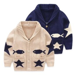 ee7394b38 Autumn Kids 2 colors cardigan coat boy sweaters Baby Boys girls single-breasted  jacket outer wear