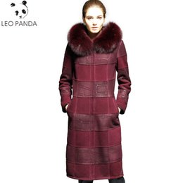 $enCountryForm.capitalKeyWord Australia - Russian Real Sheepskin Coat Women 2018 New Winter Superior quality Cashmere Lining Fox Fur Collar Leather Jacket Plus Size 6XL