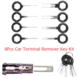 ElEctrical kits online shopping - 8Pcs Car Interior Electrical Terminal Remover Key Pin Wire Connector Extractor Tool Kit