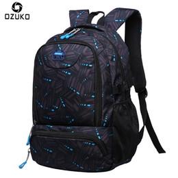 $enCountryForm.capitalKeyWord Canada - 2018 New Men Backpack Fashion Student School Bags Large Capacity waterproof Travel Rucksacks For Teenagers Casual Male