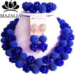 $enCountryForm.capitalKeyWord Australia - 2017 Fashio Nigeria Wedding african beads jewelry set Royal Blue Crystal necklace Bridal Jewelry Sets Free shipping MO-2117