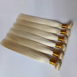 $enCountryForm.capitalKeyWord Australia - Brazilian Indian virgin Human Hair Weft Blonde #613 beauty Malaysian Peruvian remy Hair 8- 26inch white Straight Human Hair weaves 3 4 5pcs