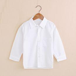 $enCountryForm.capitalKeyWord Australia - Classic Solid Baby Boys Shirts Cotton Children Shirt School Boys T-Shirt Jersey Kid Blouse Student Uniform Shirt Girl Blouse Top