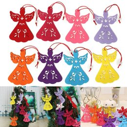 Wholesale 8 x7 cm Angel Style Non Woven Fabric Christmas Tree Decoration Pendant Hanging Xmas Party Ornament