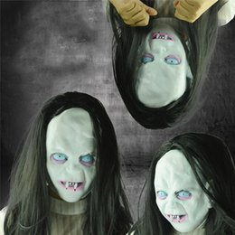 $enCountryForm.capitalKeyWord NZ - Halloween Horror Long Hair Witch Full Face Latex Mask Hot Masquerade Costume Face Mask Party Stage Decoration Accessories #M