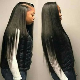 $enCountryForm.capitalKeyWord Australia - 26 28 30 inch Long Straight Human Hair Lace Front Wigs With Baby Hair Cheap Unprocessed Malaysian Virgin Human Hair Wigs Pre Plucked