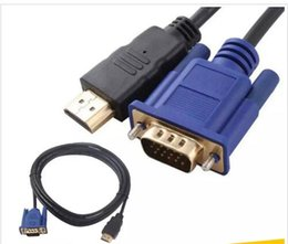 hdmi kabel adapter Australia - HDMI To VGA 6FT 1.8M Cable Male to Male For HD player To HDTV HDMI Kabel Cabo Cable