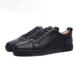 vogue spring Canada - [Original Box] Original vogue Red Bottom Black white Snake Pattern Casual Men Women Lace-up Flat Male Unisex Low Top Casual Shoes