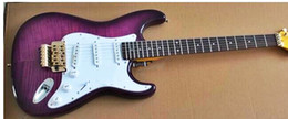 Cheap quality guitars online shopping - Factory top quality cheap GYST purple tiger stripes cover golden hardware rosewood fretboard Electric Guitar