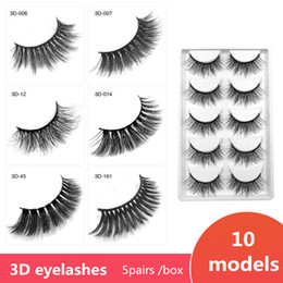 Wholesale 5pairs box D eyelashes Thick Cross Natural Eye Lashes D Eyelash Extensions in stock for sale