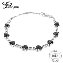 $enCountryForm.capitalKeyWord Australia - JewelryPalace 1.3ct Genuine Spinel Love Heart Ankle Bracelet 925 Sterling Silver For Women Solid Luxury Brand fine of fashion S18101507