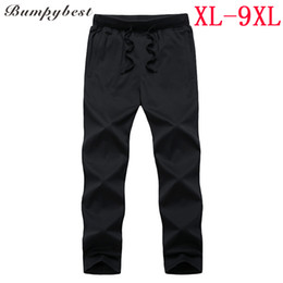 Large Jersey Size NZ - Bumpybeast Solid color Black Blue Sportswer pants Male Large SIZE 6XL 7XL 8XL 9XL Thin section Spring Summer Autumn pants 9527